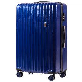 Troler Mediu Policarbonat 4 Roti Duble Cifru TSA Wings PC 5223 - 66 cm Albastru